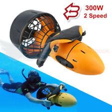 Waterproof 300W Electric Underwater Scooter Water Sea Dual Speed Propeller