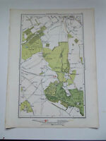 "BROMLEY HAYES LONDON STREET MAP  12""x7.25 DATED 1936 VGC."