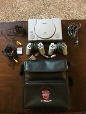 Sony Playstation 1 Original PS1 SCPH-1001 Bundle 2 Controllers + VTG Carry Case
