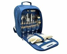 Royal Picnic Cooler Rucksack 4 Person Picnic Set Plates Cutlery Glasses Cool Bag