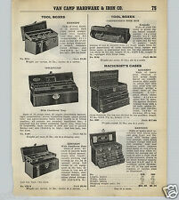 1939 40 PAPER AD Kennedy Tool Box Boxes Machinist Case Roller Rolling Cabinet