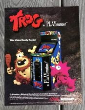 **Trog Bally Midway Video Game 1990 Flyer Brochure Ad NOS!!**