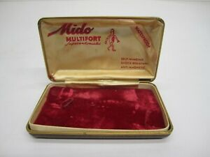 Vintage Mido Multifort Superautomatic Wrist Watch Storage Box Only