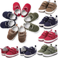 Toddler Baby Kids Boys Soft Sole Canvas Crib Shoes Anti-slip Sneakers Prewalkers