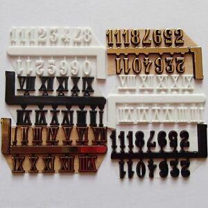 09 mm Self Adhesive Numerals Arabic/Roman Numbers for Clock Making, Clock Dials