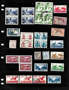 LEBANON: NICE  STAMP COLLECTION DISPLAYED ON 2 SHEETS. SEE SCANS