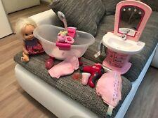 Baby Born Set Puppe , Badewanne mit Dusche , schminktisch und Zubehör