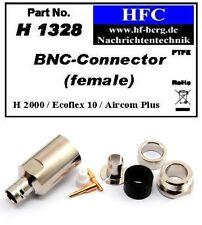 1 Pieza Conector BNC para Ecoflex 10 / Aircom Plus / H 2000 Flex - 50 Ω (H1328)