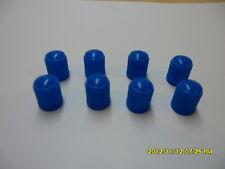 100 x voiture en plastique bleu clair, cycles & Tube Valve Dust Cap NEUF dans paquet