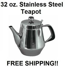 32 oz. STAINLESS STEEL TEAPOT FOR RESTAURANT OR HOME USE