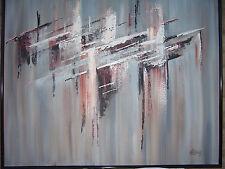 "Abstract Oil Painting LEE REYNOLDS # 132919 ~ 51"" x 41"" VTG Signed ORIG. W/FRAME"