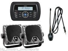 "JENSEN AM/FM/WB/USB Waterproof Bluetooth Stereo, Speakers, 6"" Antenna Boat ATV"