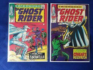Ghost Rider #2 and #3 F/F+  (1967) 1st Tarantula! Clay Rider! 2nd Carter Slade!