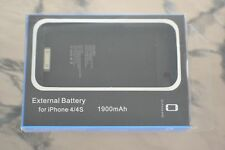EXTERNAL BATTERY FOR IPHONE 4/4S 1900mAh NEW