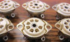 7 pin Mil-Spec Cinch Ceramic Vacuum Tube Sockets TS102C03 set of 6 NOS