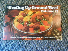 Old Vintage A1 Steak Sauce Beefing Up Ground Beef Volume II Recipes Cookbook