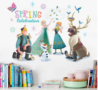 Anna Elsa Kristoff Frozen Wall Stickers Spring Celebration Animal Cartoon Decor