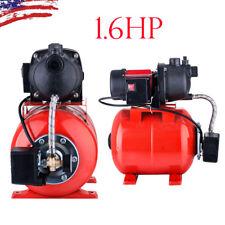 1.6 HP  Booster Shallow Well Garden Pump w/ Pressure Tank Irrigation System Pond