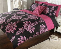 Luxury Cassandra Pleated Duvet Cover Bedding Bed Set With Pillow Case