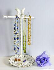 Bird Jewellery árbol Colgador Soporte Soporte Collar Pulsera De Metal Vintage Chic