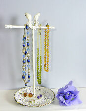 Bird JEWELLERY TREE Hanger Holder Stand Shabby Chic Metal Necklace Bracelet Gift