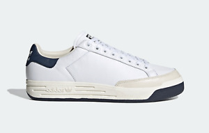 adidas Originals Rod Laver Leather Trainers in White and Navy