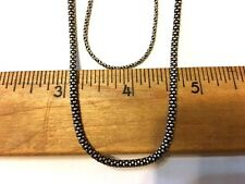 """Mother/ Daughter Combo - 24"""" Oxidized 1.5 mm Rope & 18"""" Oxidized Popcorn Chains"""