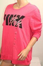 VICTORIA'S SECRET Pink Open Back Crew Sweatshirt Color Pink Sz Small NWT