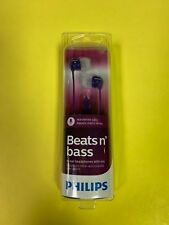 Philips In-Ear Headphones with Mic - Beats n' Bass - SHE3595 Purple - NEW