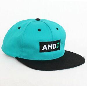 Vtg 90s AMD Baseball Hat Cap apple microsoft Snapback shirt tech vaporwave NEW