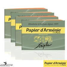 Papier d'Armenie 4 Booklets  Incense Paper, Deodorizer, Benzoin - Encens Naturel