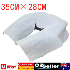 100/200pcs Disposable Massage Table Fitted Head Face Rest Cushion Circle Cover