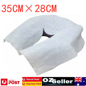 100/200pcs Disposable Fitted Head Face Rest Cushion Circle Cover Massage Table