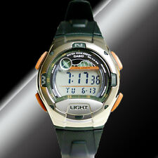 Casio W-753-3AV Moon Tide Graph Watch 10 Year Battery 4 Alarms 100M WR Brand New
