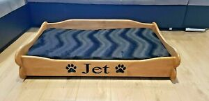 Wooden Personalised Dog Cat Bed Handmade Pet Crate Sofa Solid Wood