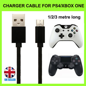 Charger Cable For PlayStation 4 PS4 & XBOX ONE Controller Charging Lead 1M 2M 3M
