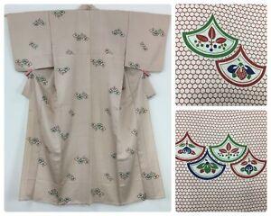 Japanese women's kimono, silk, medium-large, Japanese fabric (AC2888)
