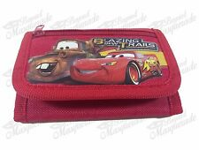 Disney Pixar Cars Lightning Mequeen Teen Boys Tri-Fold Wallet - Red