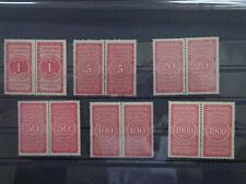 German Reich great set Tax-Revenues in pairs Mnh