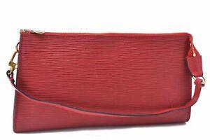 Authentic Louis Vuitton Epi Pochette Accessoires Pouch Red LV A7278