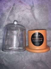 Purity Lab Richly Scented Candle -  Blood Orange - 4oz Glass jar with Cloche