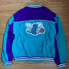 VINTAGE CHAMPION NBA CHARLOTTE HORNETS WARM UP JACKET SIZE LARGE