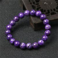 1pcs Charoite Gemstone bracelet Chakas spirituality cuff chain Fancy pray Tassel