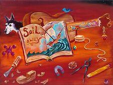 SIGNED by Jason Becker and Gary Becker Art Print SAIL AWAY (16x12 Inches)