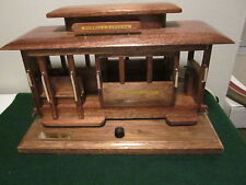 Hand made solid oak San Fransico Trolley Car-made by an inmate at Folsom Prison!
