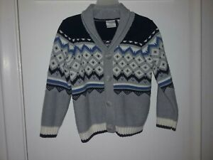 Boys Sweater Size 3 4T Koala Kids Nordic Button Up Dressy Gray Excellent