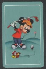 Playing Cards 1 Japanese 1960's Nintendo Disney Mickey Mouse Golf 3/4 size J222