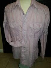Vintage Wrangler Pearl Snap Western Shirt Rockabilly Long Sleeve Large