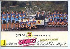 CP - Carte Postale - Groupe Z Peugeot Saison 87 - Cyclisme
