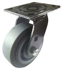 "5"" X  2""  Non-Marking Rubber Wheel Caster - Swivel (Black) (F)"